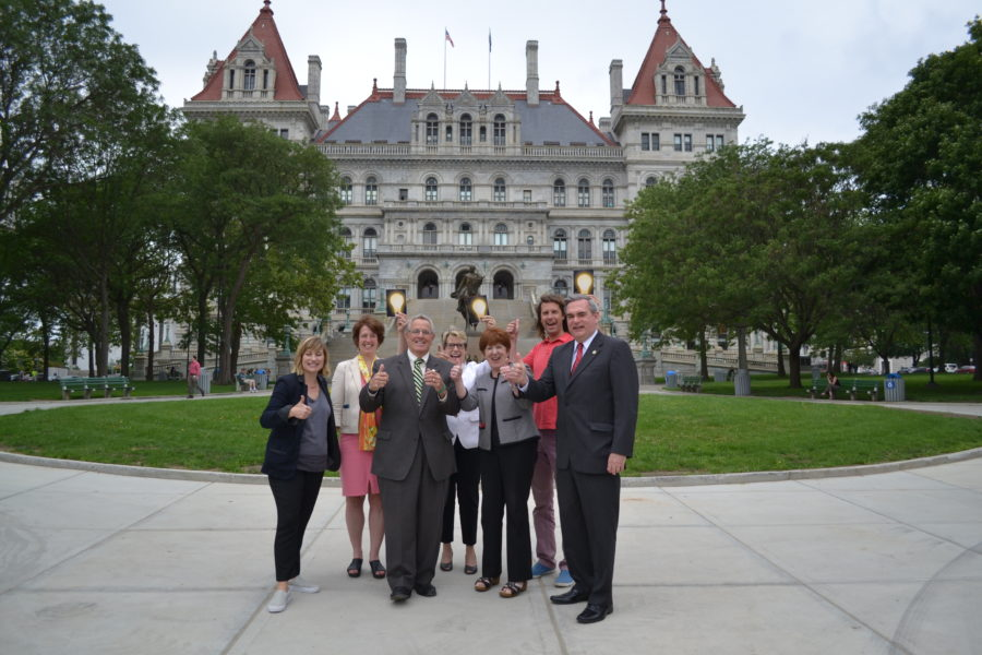 Mayors and Project Partners Celebrate Breathing Lights