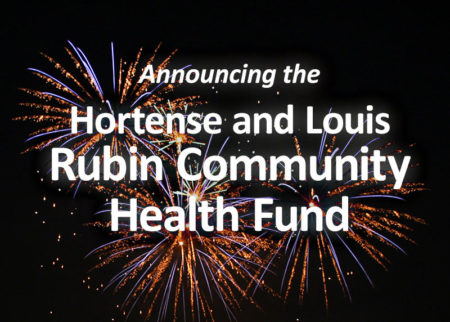Announcing the Hortense and Louis Rubin Community Health Fund at the Community Foundation for the Greater Capital Region